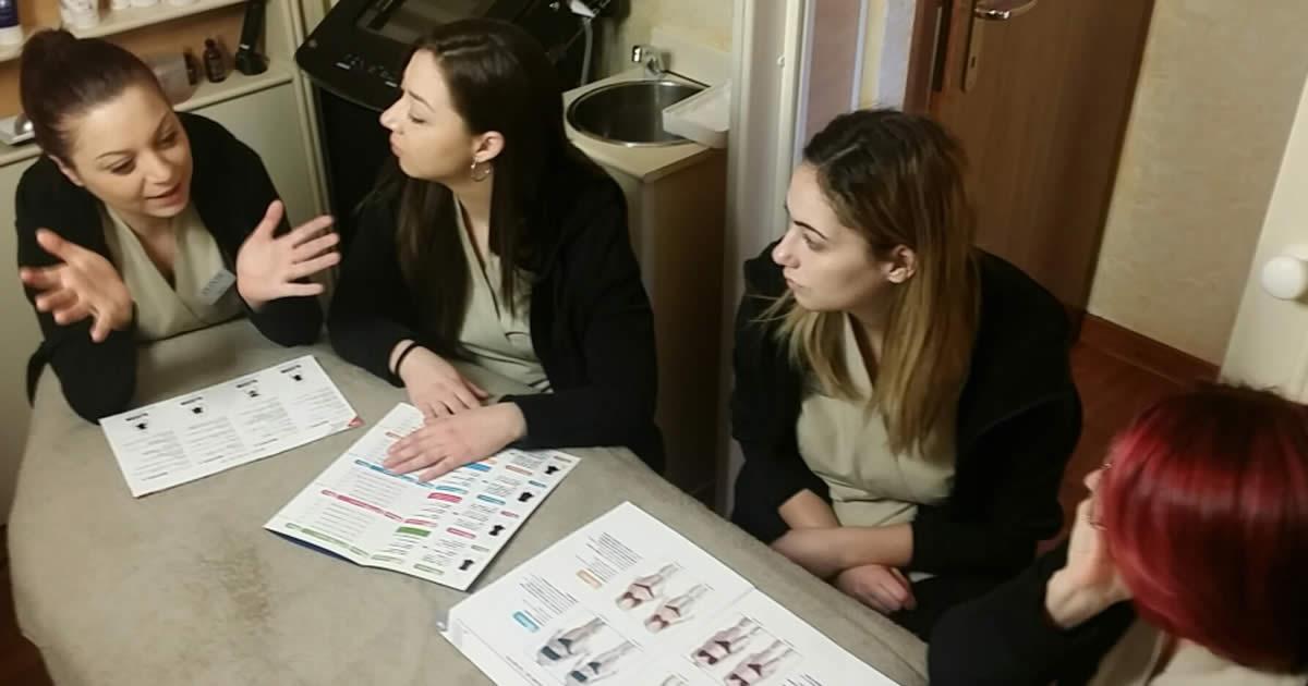 Meeting dello staff del Centro Estetico Elixir
